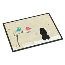 Christmas Presents Between Friends Poodle Doormat