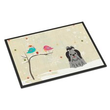 Christmas Presents Between Friends Shih Tzu Doormat