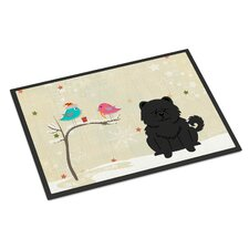 Christmas Presents Between Friends Chow Chow Doormat