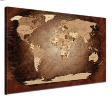 Leinwandbild World Map, Grafikdruck