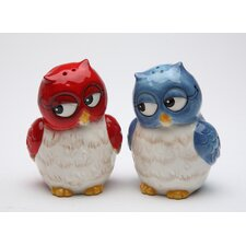 Blue salt pepper shakers mills wayfair - Owl salt and pepper grinders ...