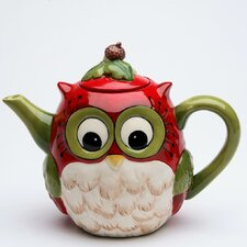 Owl 24 Oz. Earthenware Teapot