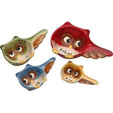 Owl 4 Piece Earthenware Measuring Spoon Set