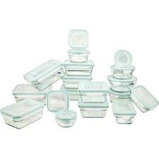 36-Piece Tempered Glasslock Food Storage Container Set