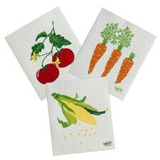 3 Piece Veggie Cleaning Cloth Set