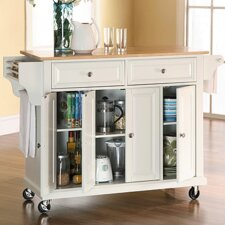 Headrick Kitchen Cart/Island with Natural Wood Top