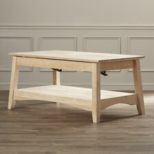 Stellan Unfinished Wood Coffee Table with Lift Top