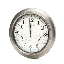 """Borell Atomic 18"""" Wall Clock with Thermometer and Hygrometer"""