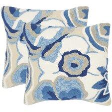 Leeds Floral Indoor Outdoor Decorative Pillow (Set of 2)