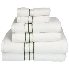 Carlyll 6 Piece 900GSM  Premium Long-Staple Combed Cotton Towel Set