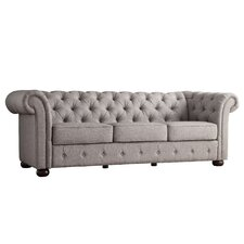 Ivy Tufted Button Linen Sofa