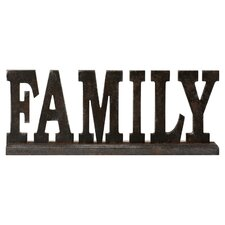 "Taylor Table Top ""Family"" Letter Block"