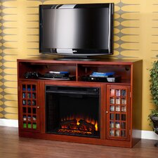 Industry TV Stand with Electric Fireplace