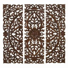 3 Piece Carved Wall Décor Set