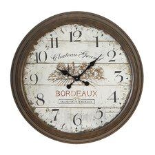 """Holsworthy Oversized 28"""" Dial Face of 1971 Bordeaux Wall Clock"""