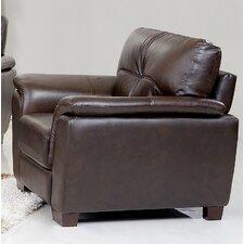 Curran Top Grain Brown Leather Arm Chair