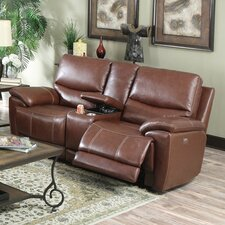 Valmeyer Console Top Leather Reclining Loveseat
