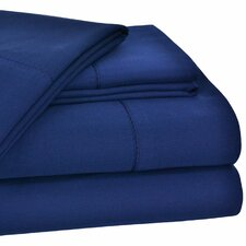 Dearmond 400 Thread Count Hem Stitch Solid Sateen Sheet Set