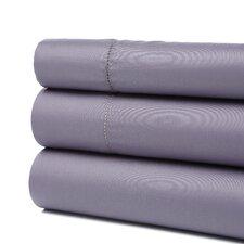 Dearmond 400 Thread Count Hem Stitch Solid Sateen Sheet Set