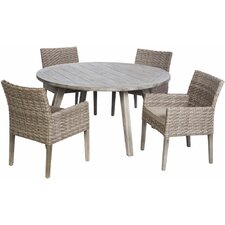 Goodridge 5 Piece Dining Set with Cushions