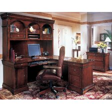 Knickerbocker 3-Piece L-Shape Executive Desk Office Suite