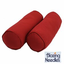 Urich Solid Twill Bolster Pillow (Set of 2)
