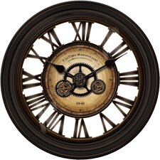 "Oversized 24"" Gear Works Wall Clock"