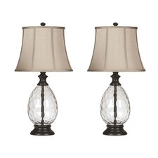 "Gaulke 28.5"" H Table Lamp with Bell Shade (Set of 2)"