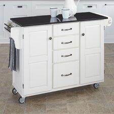 Tharpe Kitchen Cart with Granite Top