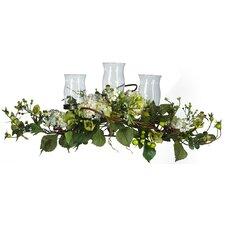 Hydrangea Triple Candleholder