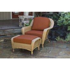 Fleischmann Chair and Ottoman