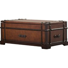 Delavan Steamer Coffee Table Trunk with Lift Top
