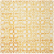 Kinzer Hand-Tufted Ivory/Gold Area Rug