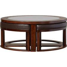 Eastin 5 Piece Coffee Table & Stool Set