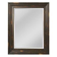 Oversize Aged Wood Frame Mirror