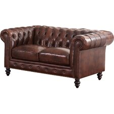Tunbridge Wells Top Grain Leather Loveseat