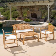 Isidore 4 Piece Seating Group with Cushions
