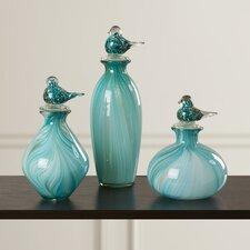Chechester 3 Piece Bellatrix Bird Stopper Decorative Bottle Set