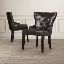 Buchholtz Leather Side Chair (Set of 2)