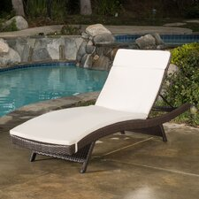 Peyton Adjustable Wicker Chaise Lounge with Cushion