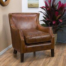 Adelbert Kraig Top Grain Leather Arm Chair