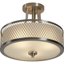 Lofton 3 Light Semi Flush Mount