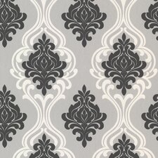 "Westhope Indiana 33' x 20.5"" Damask 3D Embossed Wallpaper"