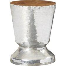 Decorative Tempered Metal Trophy Design End Table