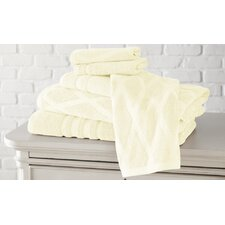 6 Piece Diamond Cotton Towel Set
