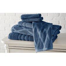 6 Piece Diamond Cotton Towel Set