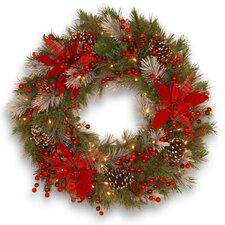 Tewkesbury Tartan Plaid Wreath with 50 White LED Lights