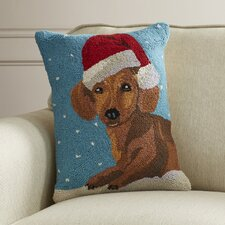 Christmas Hook Wool Throw Pillow