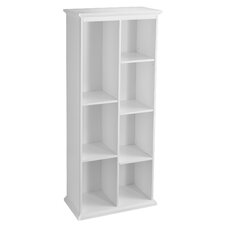 "Tillson Tall White Display Shelf 74.25"" Cube Unit Bookcase"
