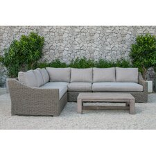 Naperville Outdoor 5 Piece Deep Seating Group with Cushion (Set of 2)